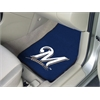 "FANMATS MLB - Milwaukee Brewers 2-piece Carpeted Car Mats 17""x27"""