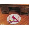 """FANMATS MLB - St. Louis Cardinals Baseball Mat 27"""" diameter"""