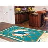 FANMATS NFL - Miami Dolphins Rug 5'x8'
