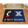 "FANMATS Xavier / Cincinnati House Divided Rugs 33.75""x42.5"""