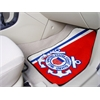 "FANMATS Coast Guard 2-piece Carpeted Car Mats 17""x27"""