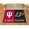"FANMATS Indiana-Purdue House Divided Rugs 33.75""x42.5"""