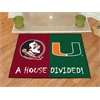 "FANMATS Florida State-Miami House Divided Rugs 33.75""x42.5"""