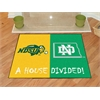 "FANMATS North Dakota State / North Dakota House Divided Rug 33.75""x42.5"""
