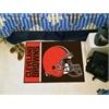 "FANMATS NFL - Cleveland Browns Uniform Inspired Starter Rug 19""x30"""