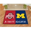 "FANMATS Ohio State - Michigan House Divided Rugs 33.75""x42.5"""