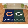 "FANMATS NFL - Chicago Bears/Green Bay Packers House Divided Rugs 33.75""x42.5"""