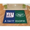 "FANMATS NFL - New York Giants/New York Jets House Divided Rugs 33.75""x42.5"""
