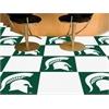 """FANMATS Michigan State Carpet Tiles 18""""x18"""" tiles"""