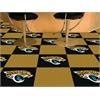 """FANMATS NFL - Jacksonville Jaguars Carpet Tiles 18""""x18"""" tiles"""