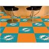 """FANMATS NFL - Miami Dolphins Carpet Tiles 18""""x18"""" tiles"""