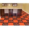 "FANMATS NFL - Cincinnati Bengals Carpet Tiles 18""x18"" tiles"