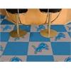 """FANMATS NFL - Detroit Lions Carpet Tiles 18""""x18"""" tiles"""