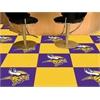 """FANMATS NFL - Minnesota Vikings Carpet Tiles 18""""x18"""" tiles"""