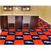 """FANMATS NFL - Denver Broncos Carpet Tiles 18""""x18"""" tiles"""
