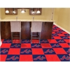 "FANMATS MLB - Atlanta Braves Carpet Tiles 18""x18"" tiles"