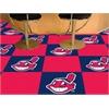 """FANMATS MLB - Cleveland Indians Carpet Tiles 18""""x18"""" tiles"""