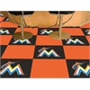 "FANMATS MLB - Miami Marlins Carpet Tiles 18""x18"" tiles"