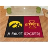 "FANMATS Iowa - Iowa State House Divided Rugs 33.75""x42.5"""