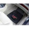 "FANMATS Virginia Tech Heavy Duty 2-Piece Vinyl Car Mats 17""x27"""
