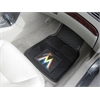 "FANMATS MLB - Miami Marlins Heavy Duty 2-Piece Vinyl Car Mats 17""x27"""