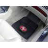 "FANMATS NFL - San Francisco 49ers Heavy Duty 2-Piece Vinyl Car Mats 17""x27"""