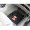 "FANMATS Illinois Heavy Duty 2-Piece Vinyl Car Mats 17""x27"""