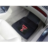 "FANMATS Texas Tech Heavy Duty 2-Piece Vinyl Car Mats 17""x27"""