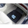 "FANMATS UNC - Chapel Hill Heavy Duty 2-Piece Vinyl Car Mats 17""x27"""