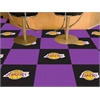 "FANMATS NBA - Los Angeles Lakers Carpet Tiles 18""x18"" tiles"