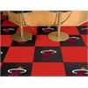 """FANMATS NBA - Miami Heat Carpet Tiles 18""""x18"""" tiles"""