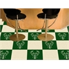 "FANMATS NBA - Milwaukee Bucks Carpet Tiles 18""x18"" tiles"