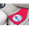 "FANMATS NBA - Philadelphia 76ers 2-piece Carpeted Car Mats 17""x27"""