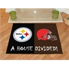 "FANMATS NFL - Pittsburgh Steelers/Cleveland Browns House Divided Rugs 33.75""x42.5"""