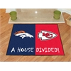 "FANMATS NFL - Denver Broncos/Kansas City Chiefs House Divided Rugs 33.75""x42.5"""
