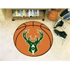 "FANMATS NBA - Milwaukee Bucks Basketball Mat 27"" diameter"