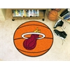 "FANMATS NBA - Miami Heat Basketball Mat 27"" diameter"