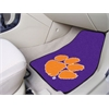 "FANMATS Clemson 2-piece Purple Carpeted Car Mats 17""x27"""