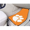 "FANMATS Clemson 2-piece Orange Carpeted Car Mats 17""x27"""
