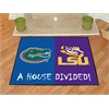 "FANMATS Florida - LSU House Divided Rugs 33.75""x42.5"""
