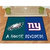 "FANMATS NFL - Philadelphia Eagles/New York Giants House Divided Rugs 33.75""x42.5"""