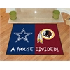 "FANMATS NFL - Dallas Cowboys/Washington Redskins House Divided Rugs 33.75""x42.5"""