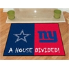 "FANMATS NFL - Dallas Cowboys/New York Giants House Divided Rugs 33.75""x42.5"""