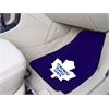 "FANMATS NHL - Toronto Maple Leafs 2-pc Printed Carpet Car Mats 17""x27"""