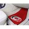 "FANMATS NHL - Carolina Hurricanes 2-pc Printed Carpet Car Mats 17""x27"""