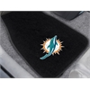"FANMATS NFL - Miami Dolphins 2-piece Embroidered Car Mats 18""x27"""