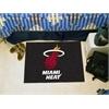 "FANMATS NBA - Miami Heat Starter Rug 19"" x 30"""