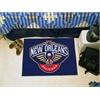 """FANMATS NBA - New Orleans Pelicans Starter Rug 19"""" x 30"""""""