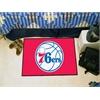 "FANMATS NBA - Philadelphia 76ers Starter Rug 19"" x 30"""