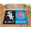 "FANMATS MLB - Chicago White Sox - MLB - Chicago Cubs House Divided Rugs 33.75""x42.5"""